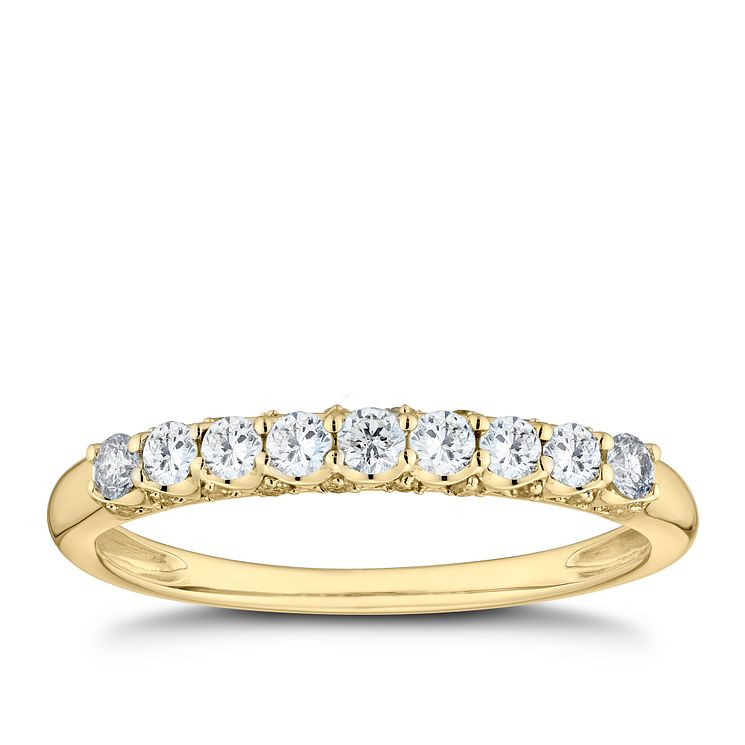 9ct Yellow Gold 1 3ct Diamond Eternity Ring