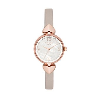 Kate Spade Hollis Ladies' Rose Gold Tone Strap Watch - Product number 8102570