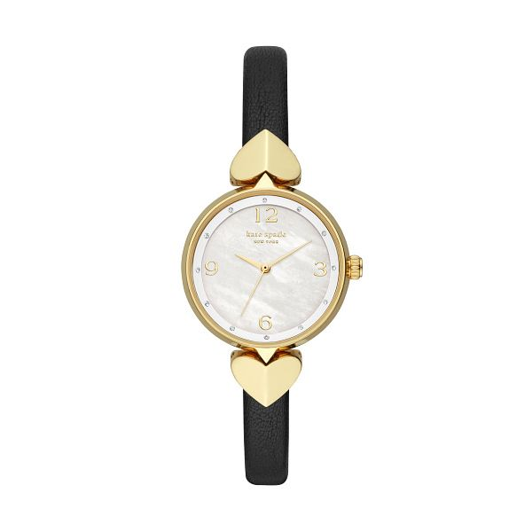 Kate Spade Hollis Ladies' Yellow Gold Tone Strap Watch - Product number 8103453