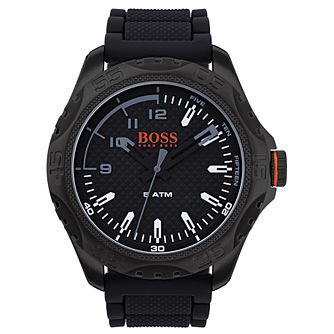 Boss Orange Men's Black Silicone Strap Watch - Product number 8104700