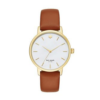 Kate Spade Metro Ladies' Yellow Gold Tone Bracelet Watch - Product number 8105480