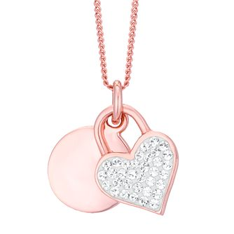 Evoke Rose Gold Plated Crystal Heart Pendant - Product number 8108455
