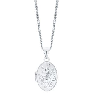 Children's Sterling Silver Unicorn Locket - Product number 8108579