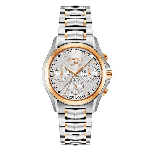 Roamer Searock Ladies' Two Colour Chronograph Bracelet Watch - Product number 8108838
