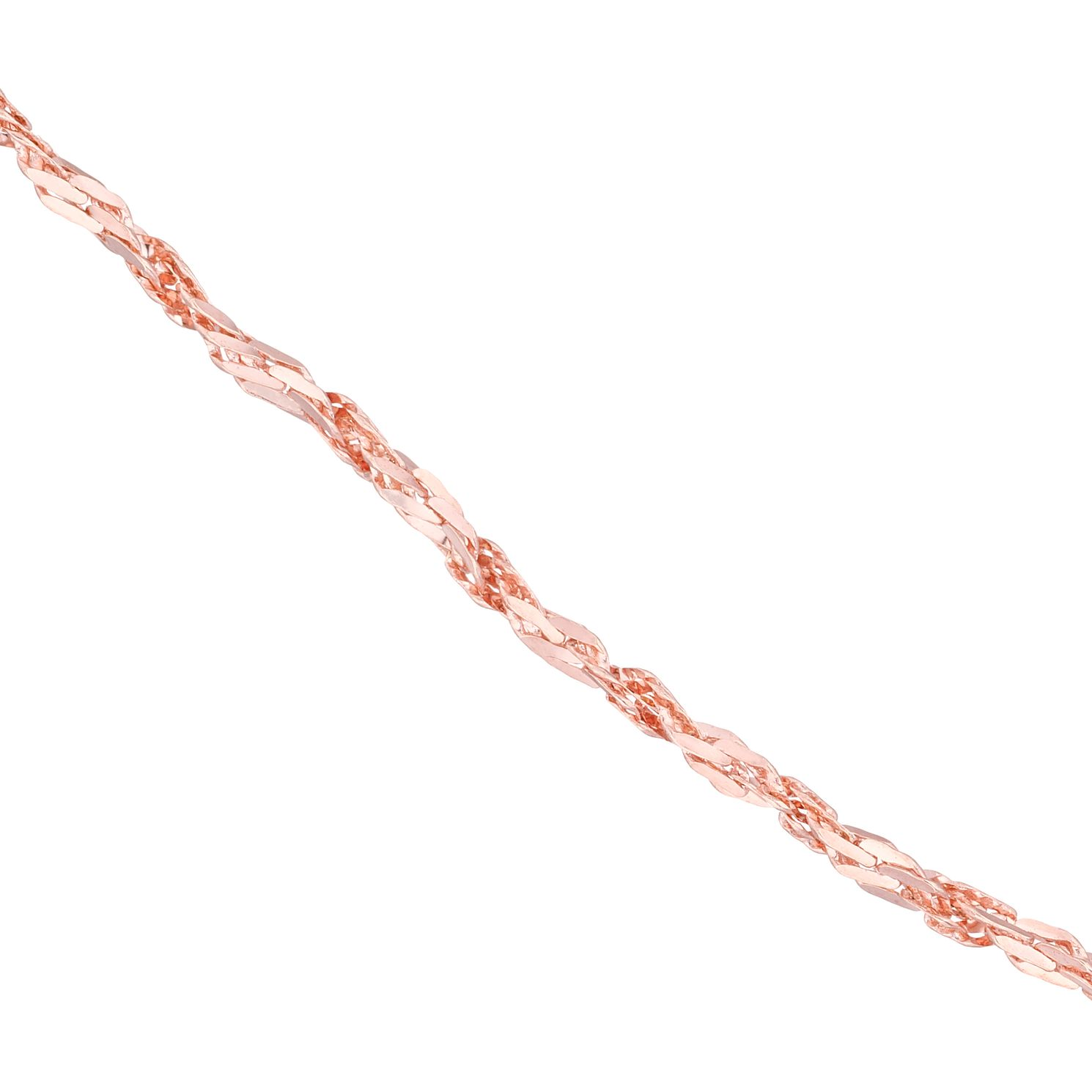 9ct Rose Gold 18 inches Chain Necklace - Product number 8108900