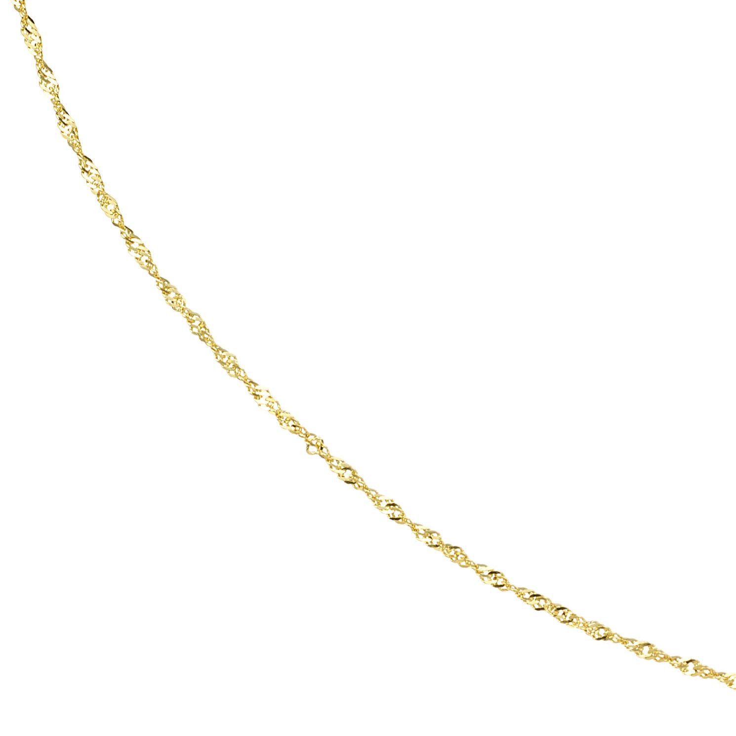 9ct Yellow Gold 18 Inch Singapore Chain - Product number 8109052