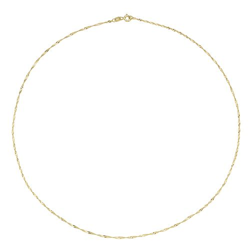 9ct Yellow Gold Singapore Chain Necklace - Product number 8109079