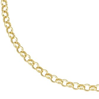 9ct Yellow Gold 7.25 Inch Belcher Chain Bracelet - Product number 8109176