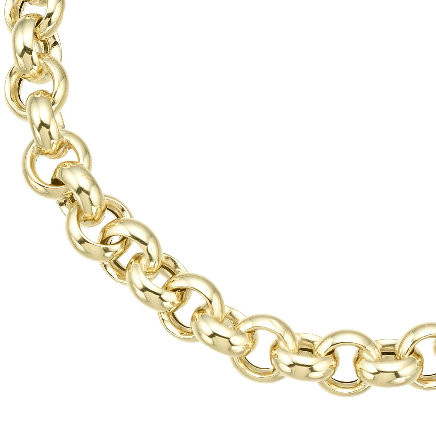 9ct Yellow Gold Large Belcher Chain Bracelet - Product number 8109192