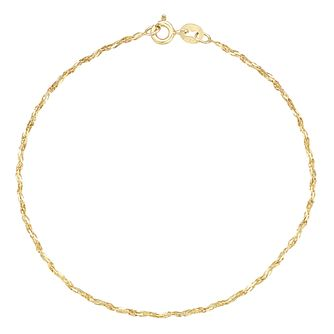 9ct Yellow Gold Sparkle Bracelet - Product number 8109214
