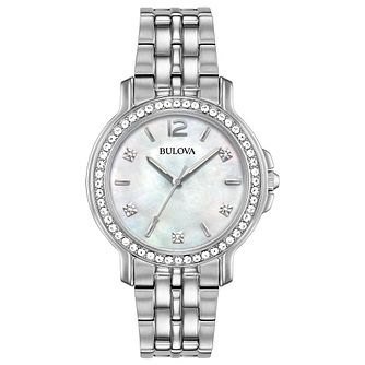Bulova Ladies' Stainless Steel Bracelet Watch - Product number 8109265