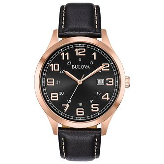 Bulova Men's Classic Brown Leather Strap Watch - Product number 8109273