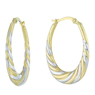 Together Silver & 9ct Bonded Gold Two Colour Oval Earrings - Product number 8110646
