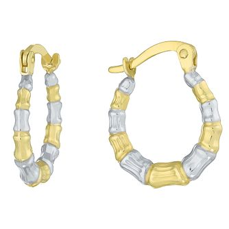 Together Silver & 9ct Bonded Gold Two Colour Creole Earrings - Product number 8110654
