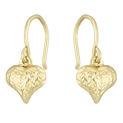 Together Silver & 9ct Bonded Gold Heart Drop Earrings - Product number 8110700