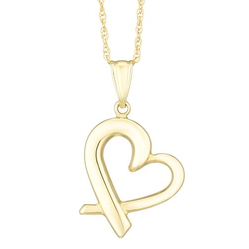 Together Silver & 9ct Bonded Gold Crossover Heart Pendant - Product number 8110859