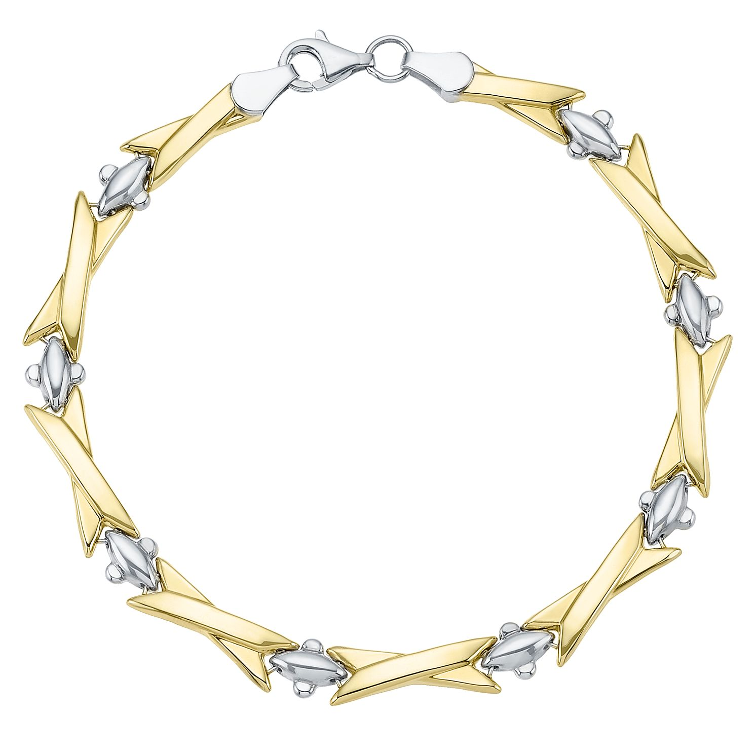 Together Silver & 9ct Bonded Gold Kisses Bracelet - Product number 8111340