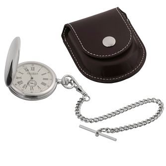 Jean Pierre Hunter Fob Watch And Chain With Leatherette Case - Product number 8113521