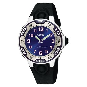 Lorus Children's Black Strap Watch - Product number 8114684