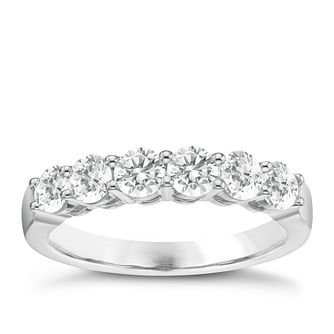 Platinum 1ct Certificated Diamond Half Eternity Ring - Product number 8115737