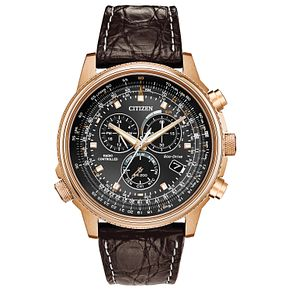 Citizen Chrono Men's Yellow Gold Tone Strap Watch - Product number 8116997