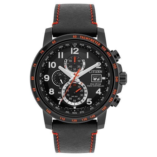 Citizen Eco-Drive World Ion Plated Chronograph Strap Watch - Product number 8117020