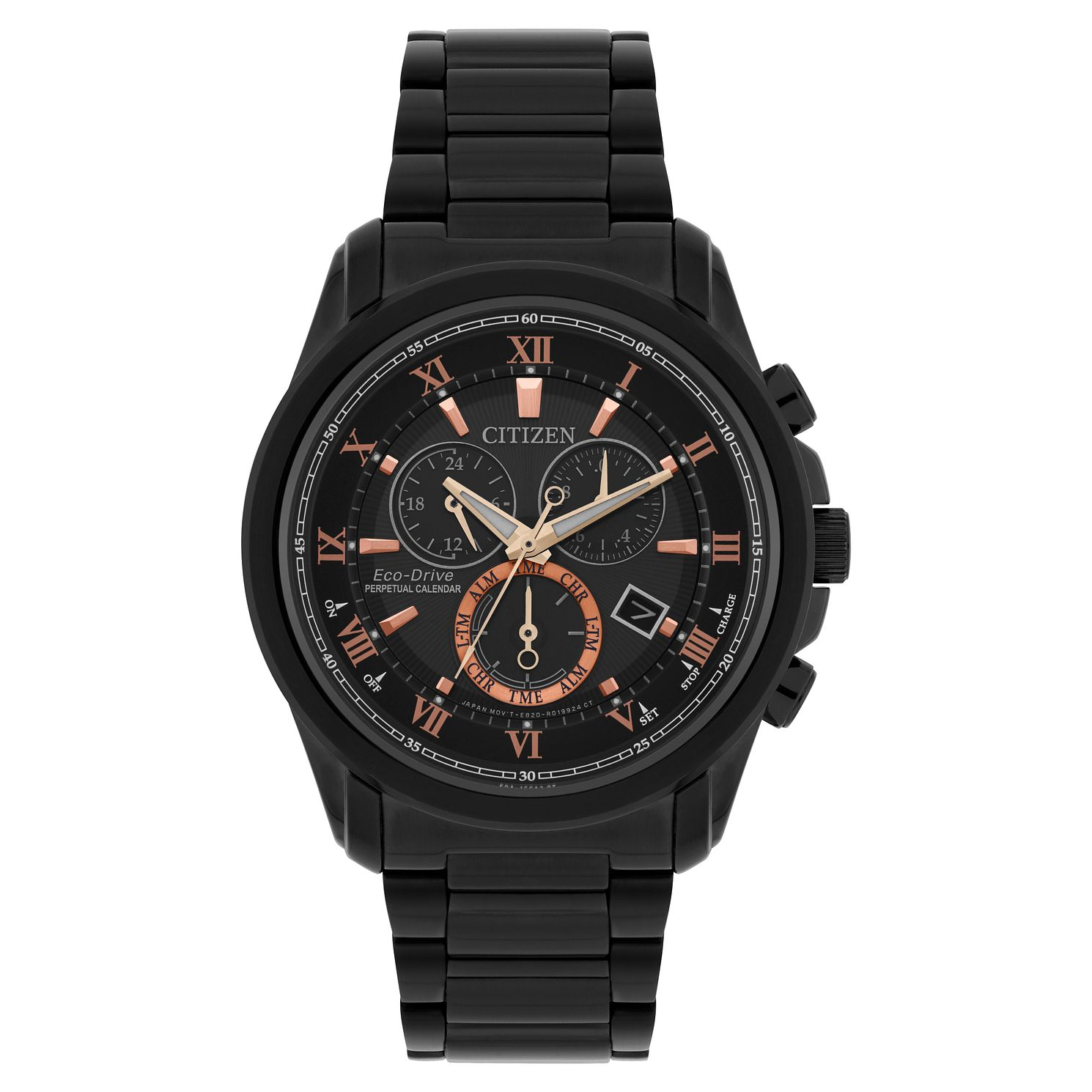 Citizen Men's Eco Drive Black Perpetual Chrono Watch - Product number 8117047