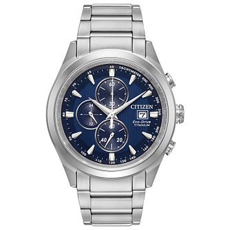 Citizen Men's Eco Drive Titanium Bracelet Watch - Product number 8117233