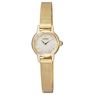 Citizen Elegance Ladies' Yellow Gold Tone Bracelet Watch - Product number 8117276