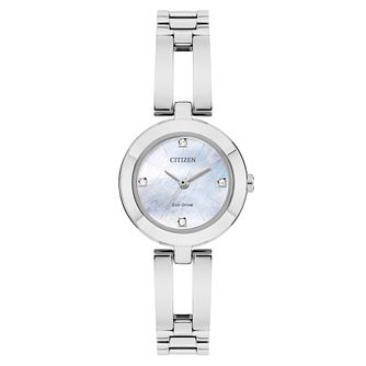 Citizen Bangle Ladies' Mother Of Pearl Stone Set Watch - Product number 8117306