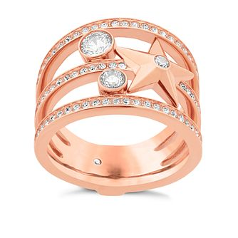 Michael Kors Celestial Rose Gold-Tone Charm Ring Size N - Product number 8117411