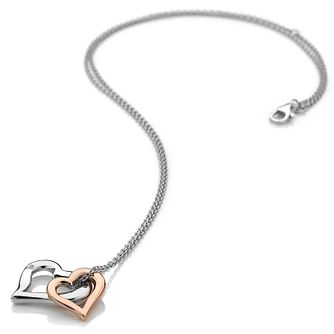 Hot Diamonds Glide Sterling Silver Double Heart Pendant - Product number 8118035