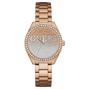 Guess Ladies' Iconic Rose Gold Tone Bracelet Watch - Product number 8119406
