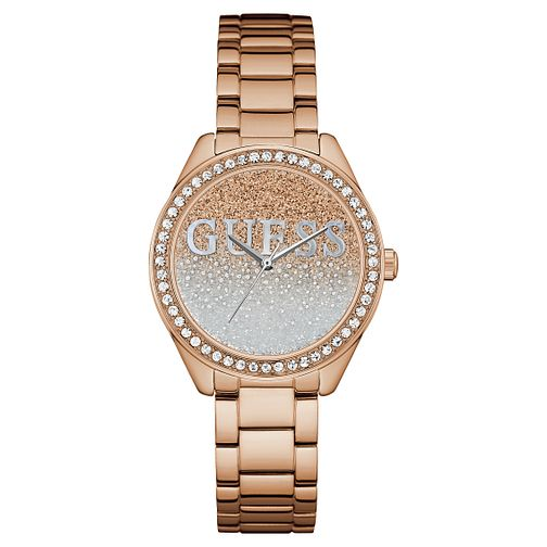 Guess Ladies' Iconic Rose Gold Plated Bracelet Watch - Product number 8119406
