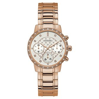Guess Ladies' Rose Gold Tone Bracelet Watch - Product number 8119473