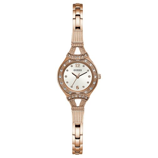 Guess Ladies' Iconic Rose Gold Tone Bracelet Watch - Product number 8119546