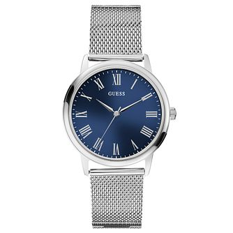 Guess Men's Stainless Steel Mesh Strap Watch - Product number 8119562