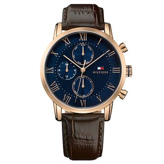 ab20d0f0 Tommy Hilfiger Men's Brown Leather Strap Watch - Product number 8120153