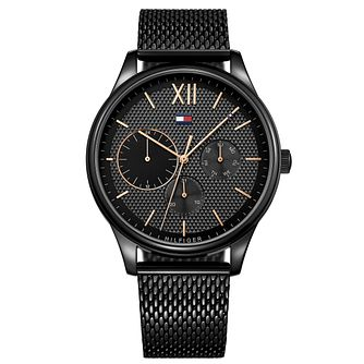 Tommy Hilfiger Men's Black IP Mesh Bracelet Watch - Product number 8120234