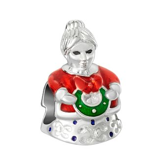 Chamilia Mrs Claus Charm with Red, Green, Pink & Blue Enamel - Product number 8128138
