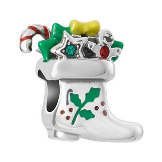 Chamilia Santas Boot Charm with Enamel & Swarovski Crystal - Product number 8128286