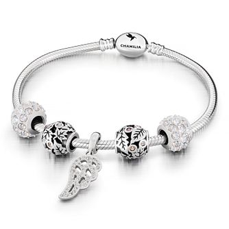 Chamilia Five Charm & Bracelet Gift Set - Product number 8128847