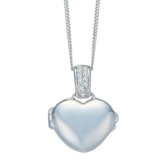 9ct White Gold Diamond Everlasting Heart Locket - Product number 8129762
