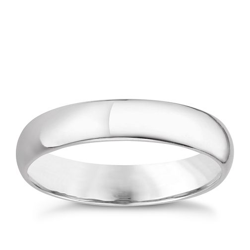Platinum 4mm extra heavyweight D Shape ring - Product number 8130434
