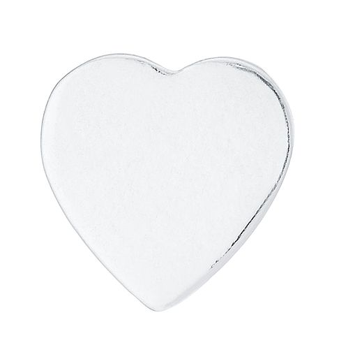 Sterling Silver Flat Heart Single Stud Earring - Product number 8131031