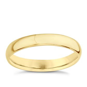 18ct Yellow Gold 3mm Extra Heavyweight D Shape Ring - Product number 8131090