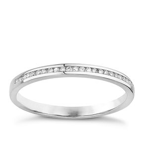 18ct white gold diamond channel set diamond ring - Product number 8131759