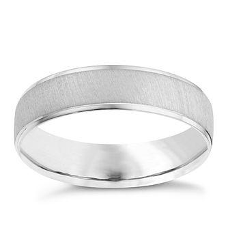 Platinum 6mm matt & polish ring - Product number 8134979