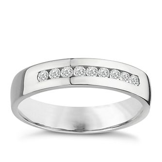 Palladium 950 5mm 0.25ct diamond ring - Product number 8137382
