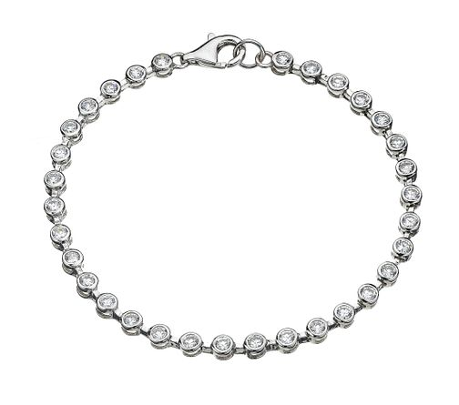 Sterling silver cubic zirconia tennis bracelet - Product number 8138893